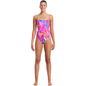 Funkita Single Strap One Piece Swimsuit Damer, kaleidocolour